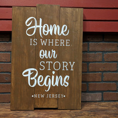 """Home is where our Story Begins"" 18 x 24"
