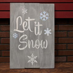 """Let it Snow"" 18 x 24"