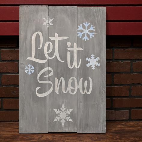 """Let it Snow"" 18 x 24"