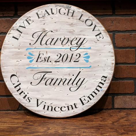 """Live Laugh Love"" 18 inch Round"