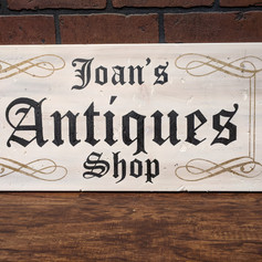 """Joan's Antiques Shop"" 12 x 24"