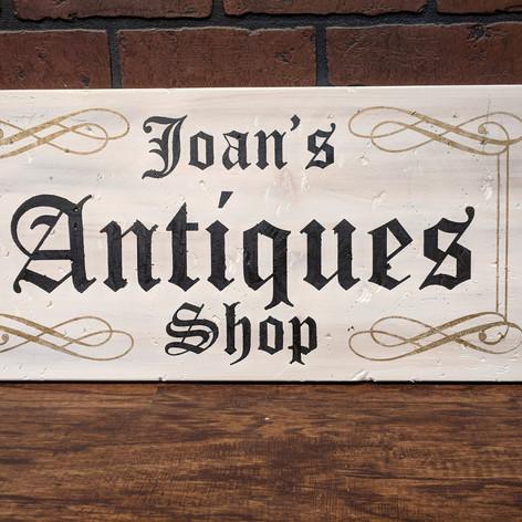 """Joan's Antiques Shop"" 12 x 24"