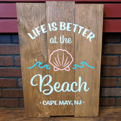 """Life is Better at the Beach"" 18x24"