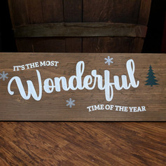 """It's the Most Wonderful Time of the Year"" 10x24"