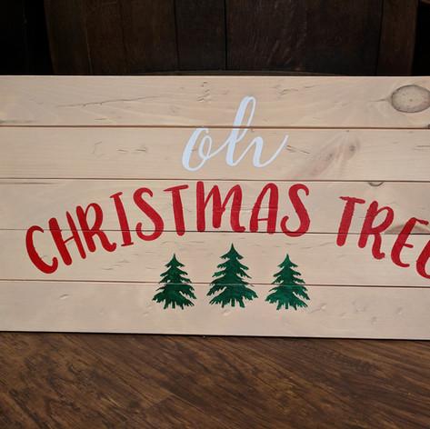 """Oh Christmas Tree"" 12x24"