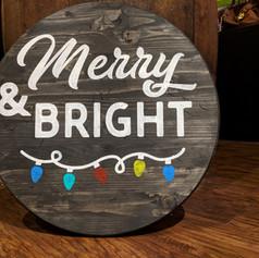 """Merry & Bright"" 18 inch Round"