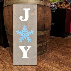 """Joy Snowflake"" 10x24"