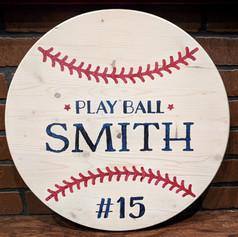"""Play Ball"" 18 inch Round"