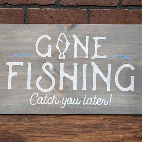 """""""Gone Fishing"""" 12x24"""