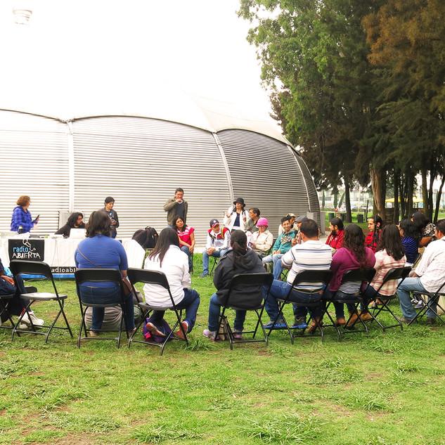 Radio Abierta en el Faro Tláhuac