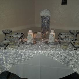 Hello Divine Silver Dessert Table