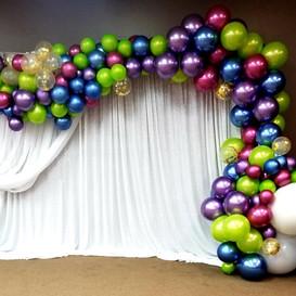 Hello Divine Balloon Photo Backdrop