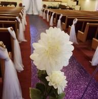 Hello Divine Wedding Reception Flower Details