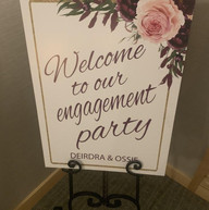 Hello Divine Engagement Party Poster