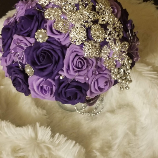 Hello Divine Purple Wedding Flowers