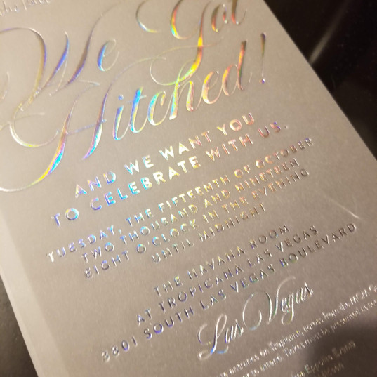 Hello Divine Holographic Invitations