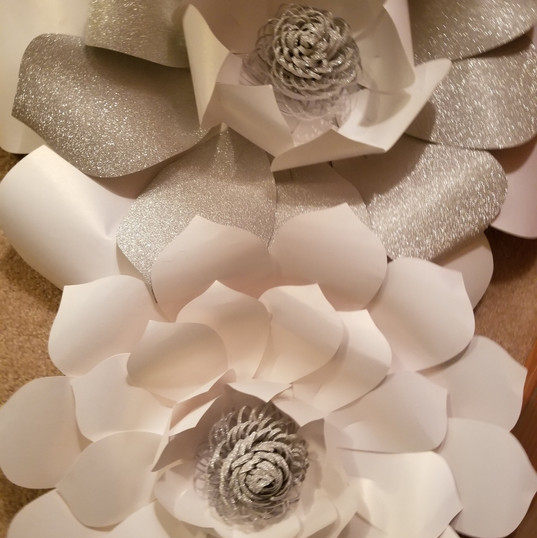 Hello Divine White Paper Flowers