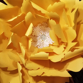 Hello Divine Yellow Paper Flowers
