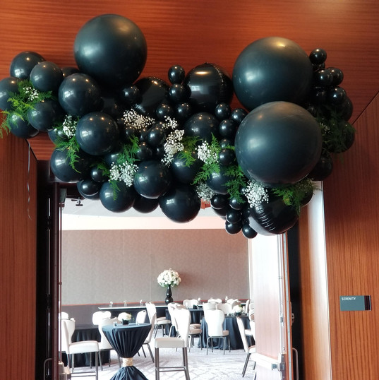 Hello Divine Balloon Arch