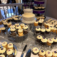 Hello Divine Purple Wedding Dessert Table