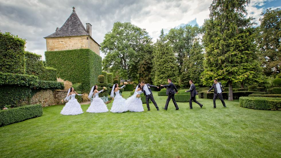 Mariés multiple - Jardin d'Eyrignac - Auteur Gérald Vincent -