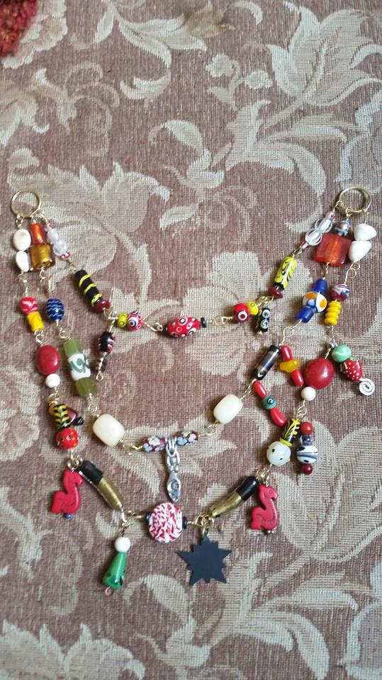 Handmade jewelry made by SCA members