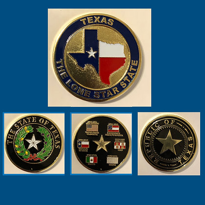 Complete Set of All 3 Texas Challenge Coins!