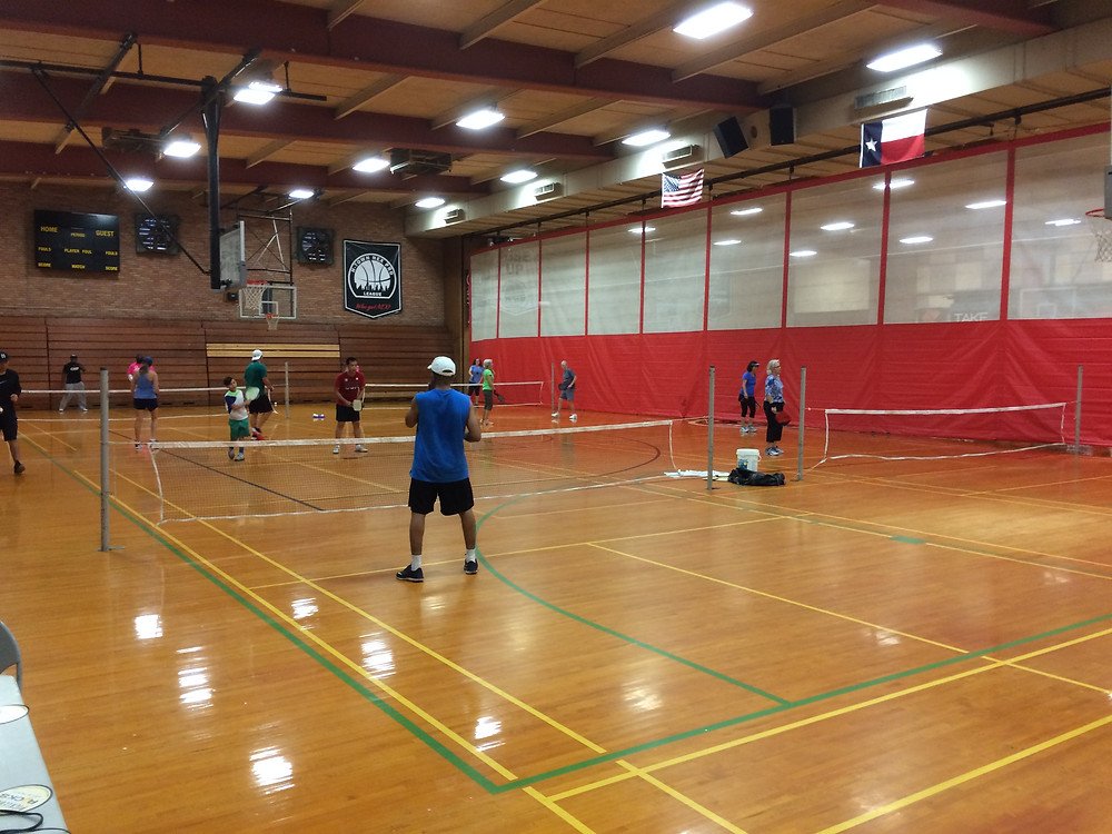 Pickleball players at the Fonde Center in Houston, TX