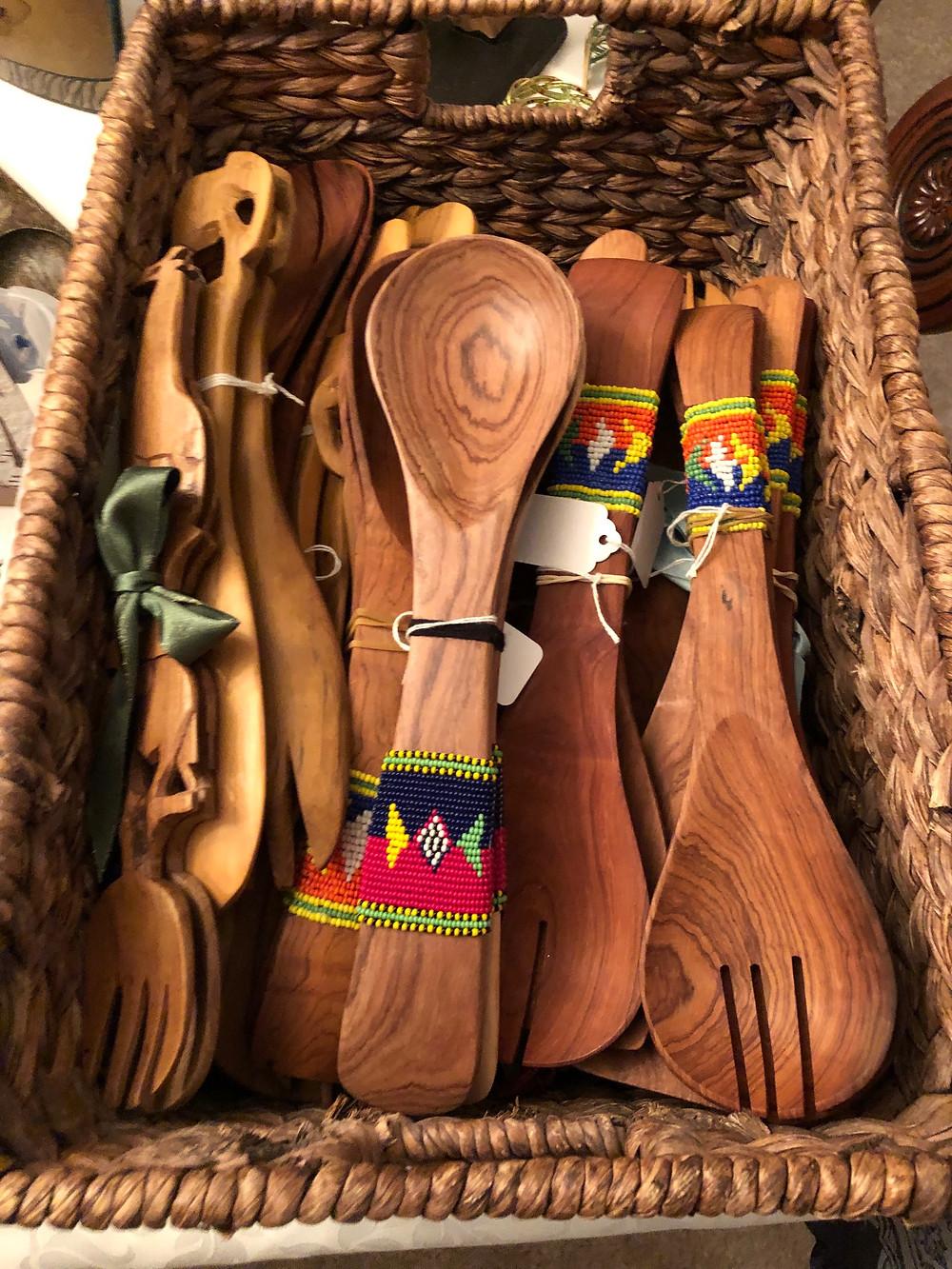 Handmade wooden spoons from Samburu