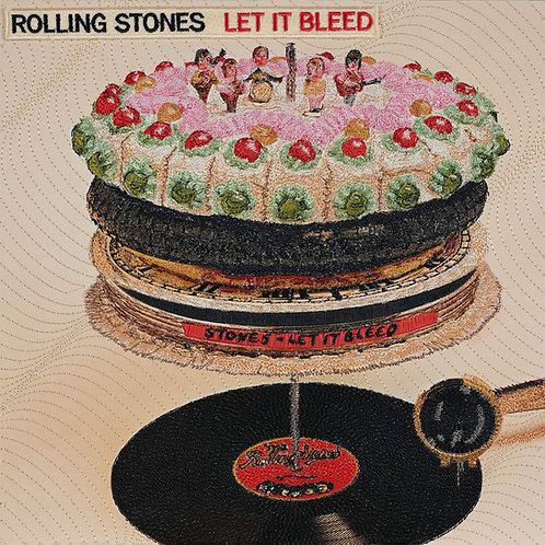 Let It Bleed, Rolling Stones.  Acrylic Framed Embroidered Album Cover.