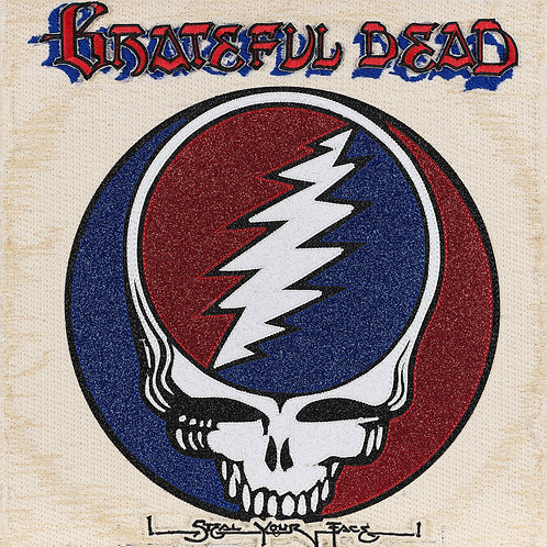 Steel Your Face, The Grateful Dead.  Acrylic Frame, Embroidered Album Cover.