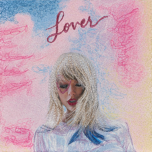 Lover, Taylor Swift.  Acrylic Framed Embroidered Album Cover.