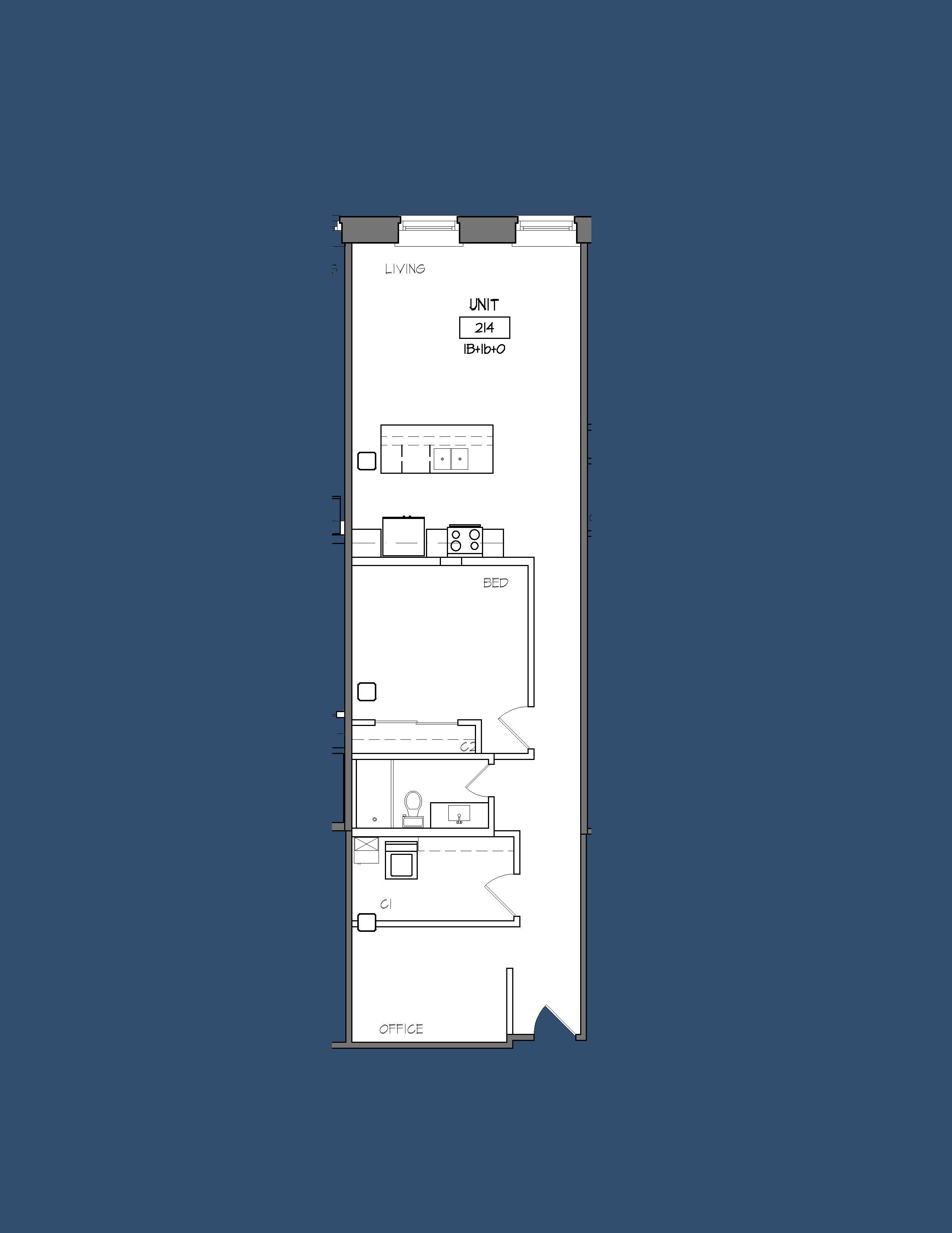 Unit 214 Floor Plan