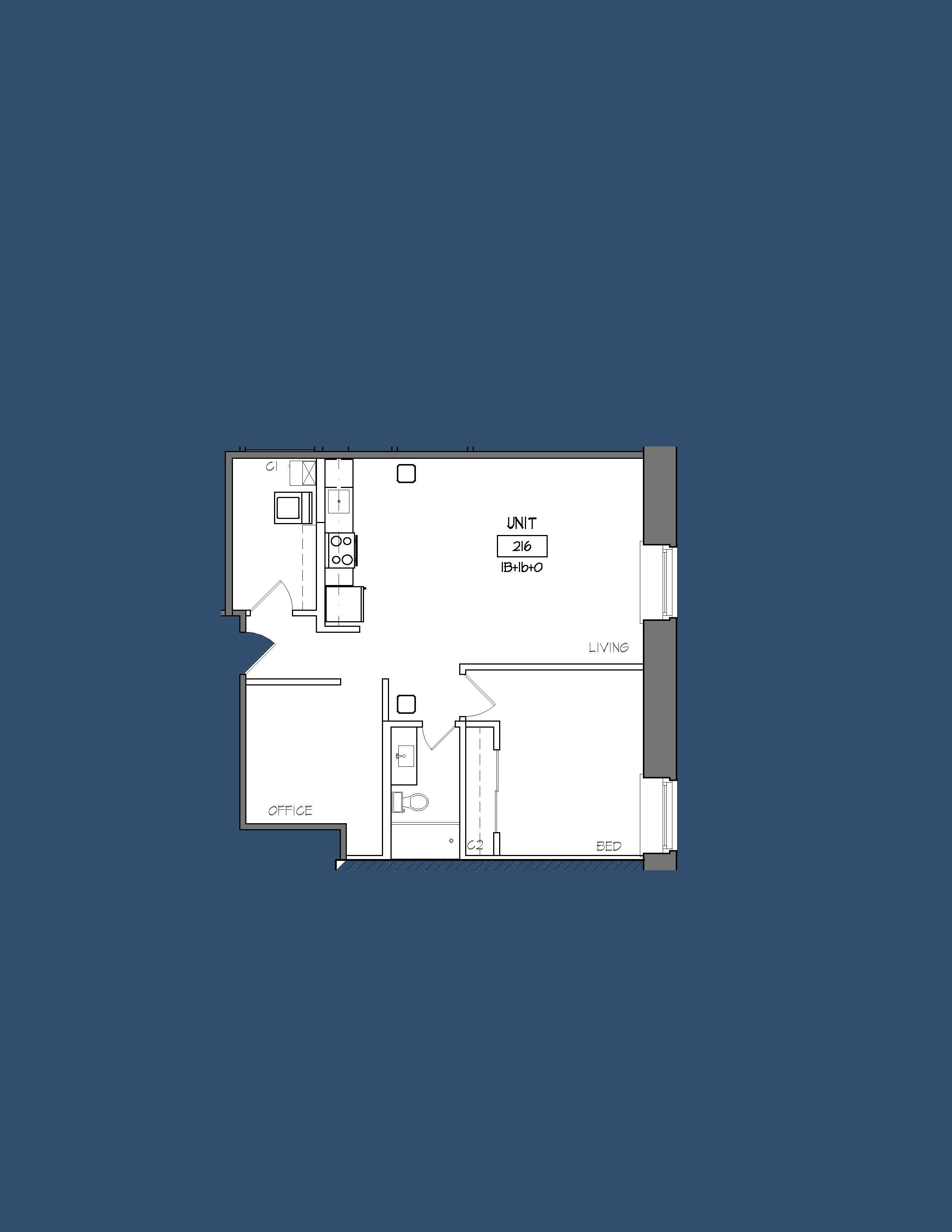 Unit 216 Floor Plan