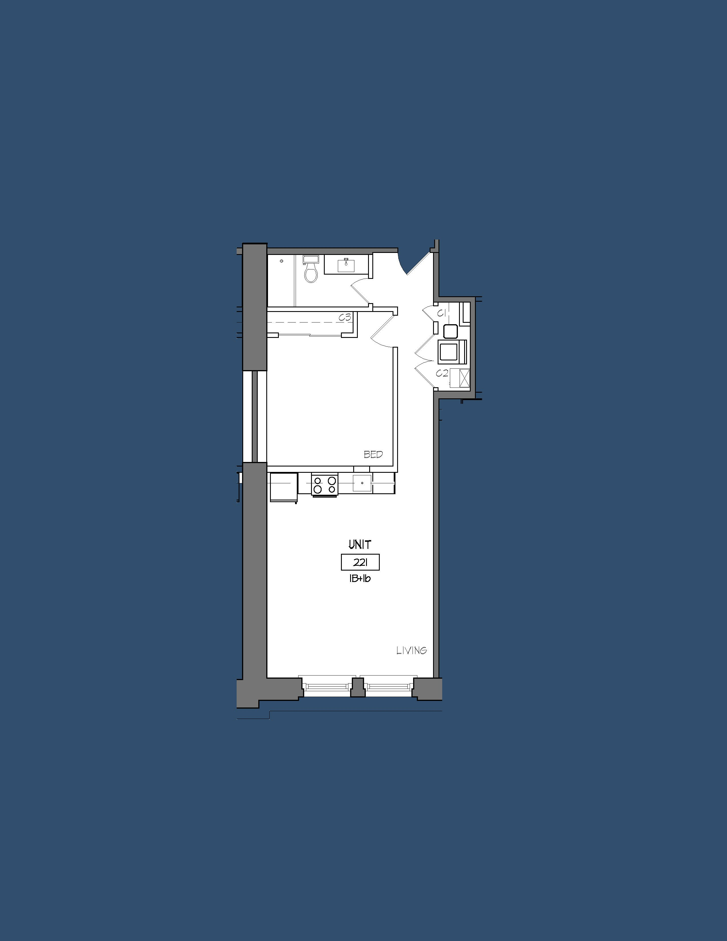 Unit 221 Floor Plan