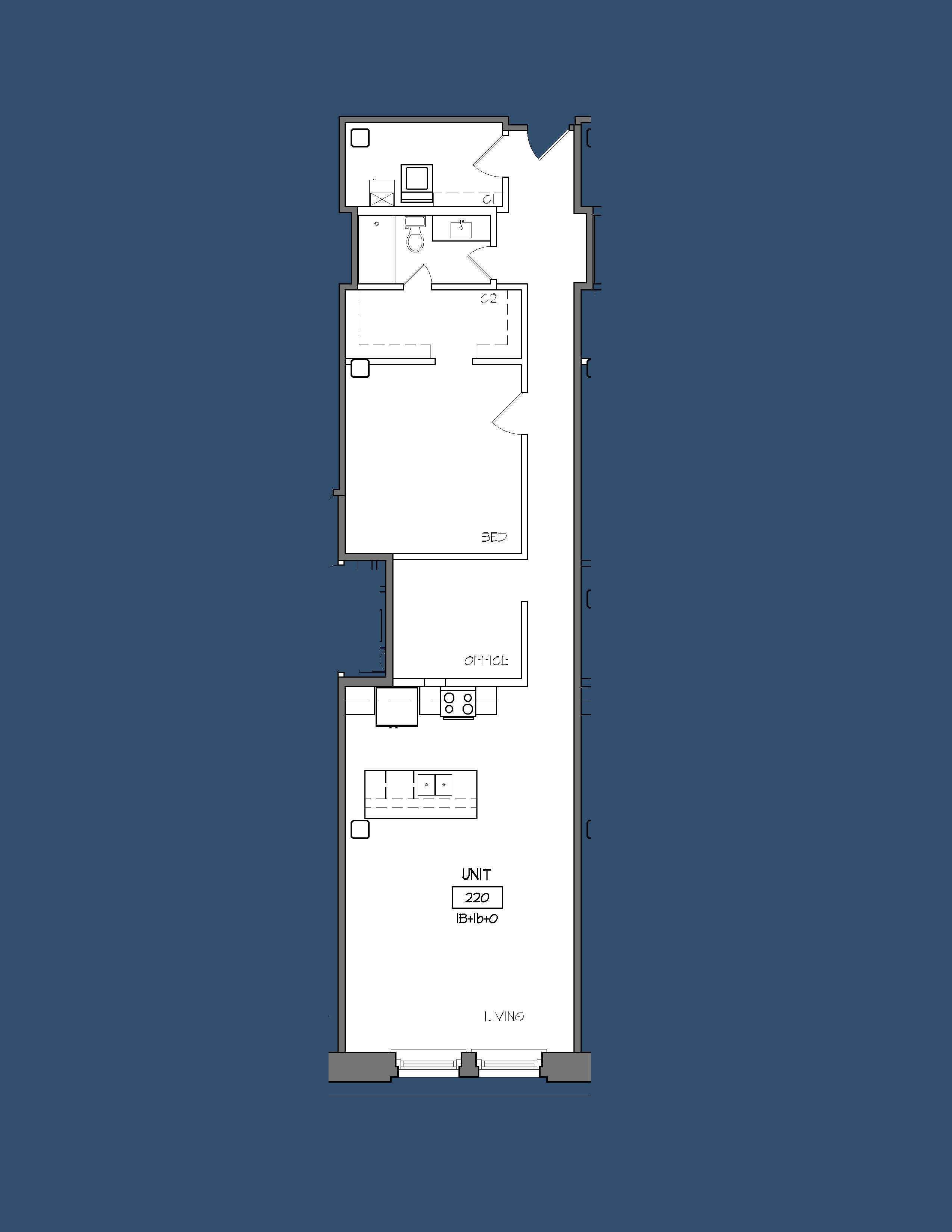 Unit 220 Floor Plan