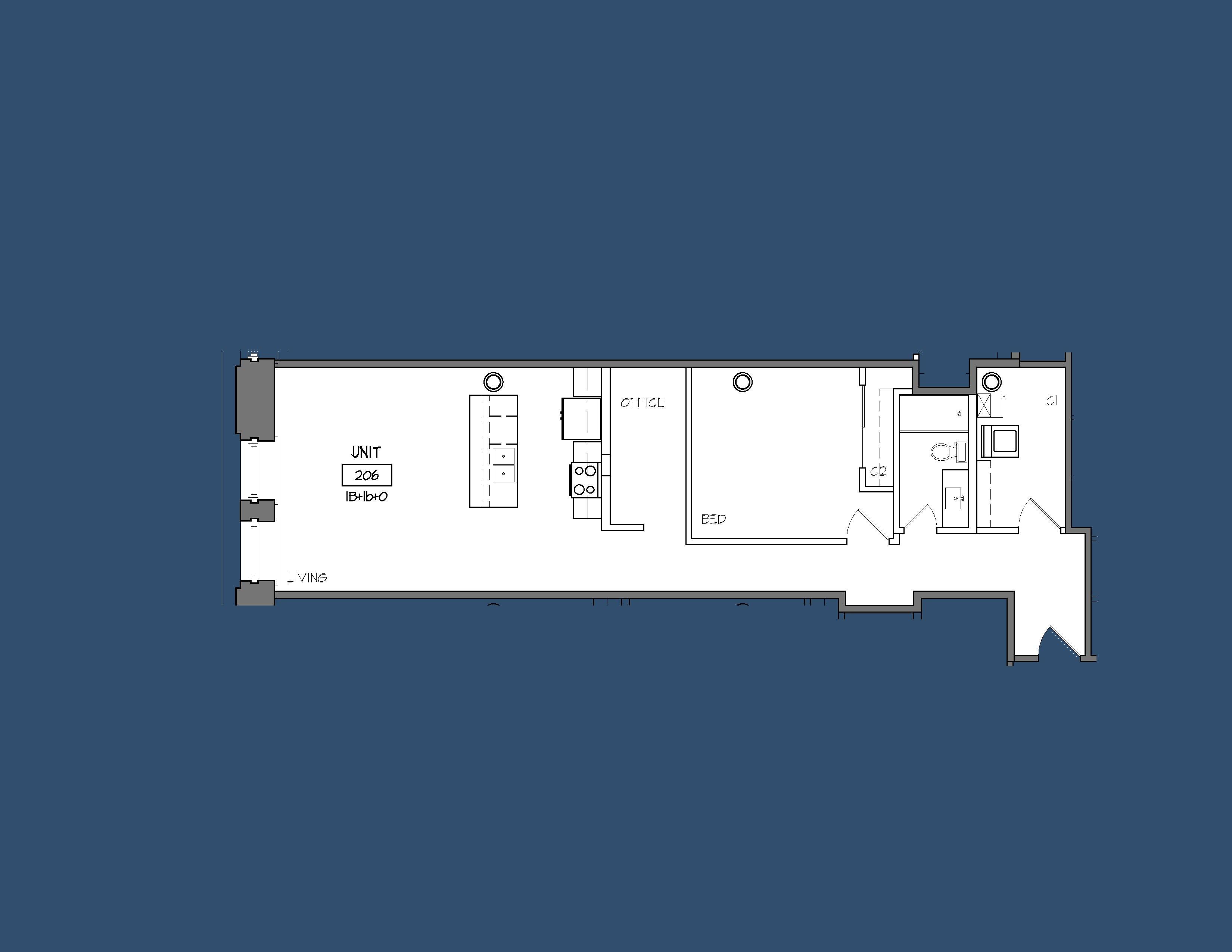Unit 206 Floor Plan