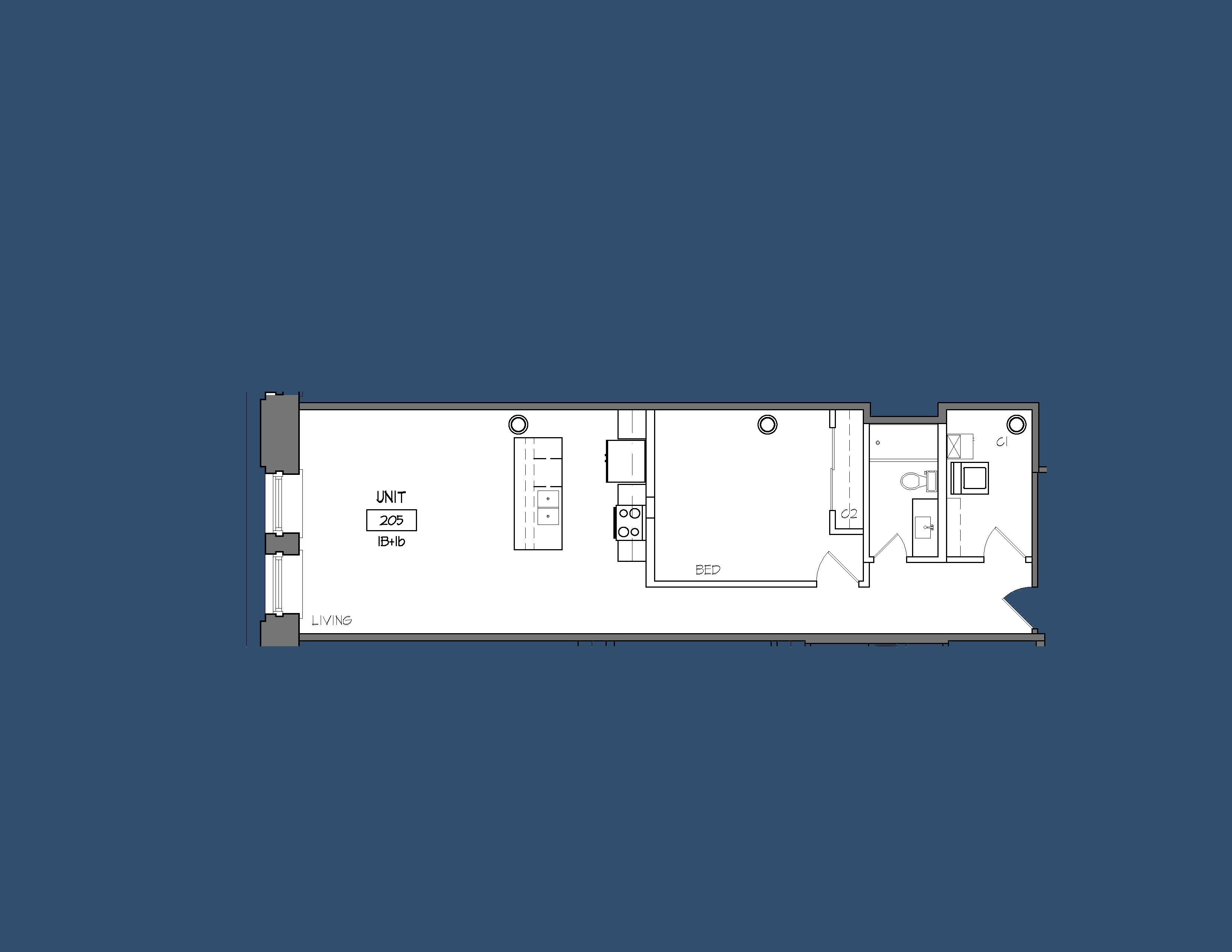 Unit 205 Floor Plan