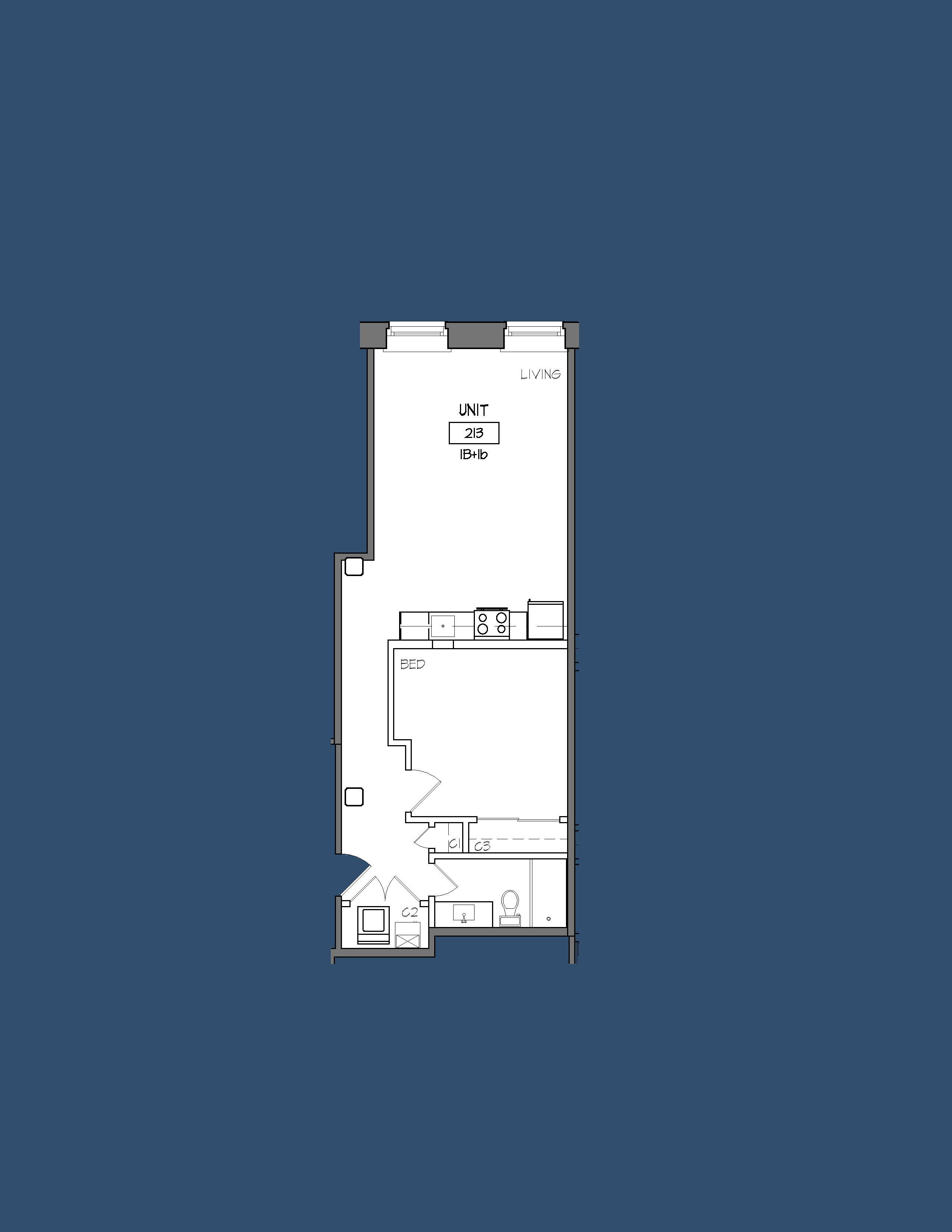 Unit 213 Floor Plan