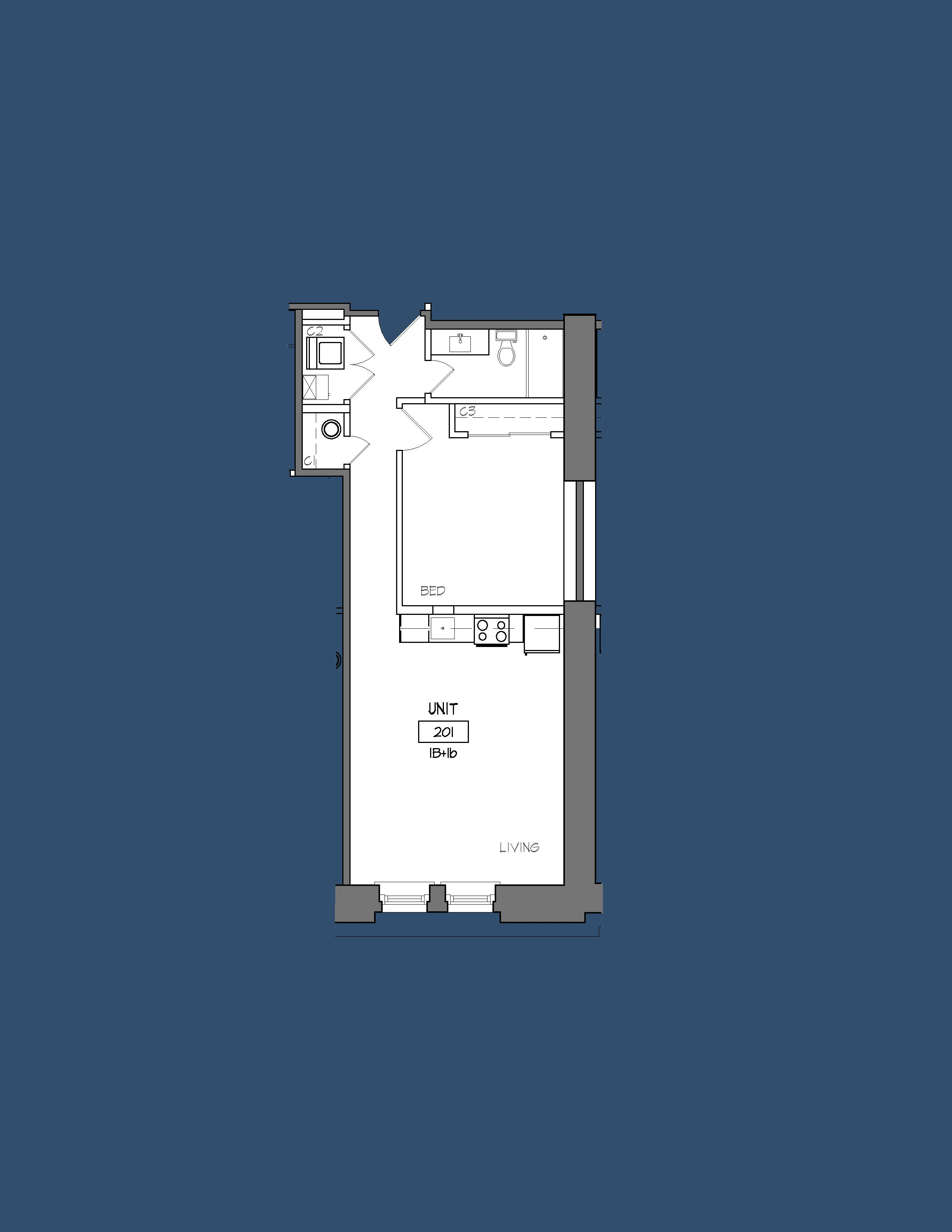 Unit 201 Floor Plan