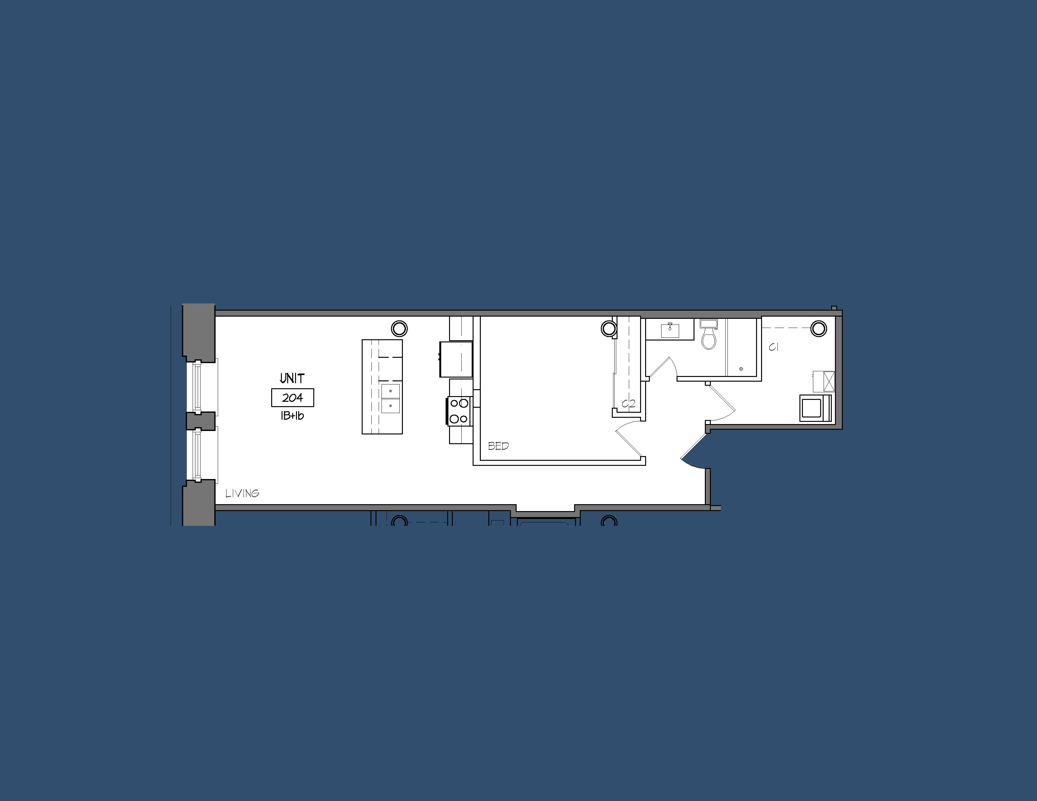 Unit 204 Floor Plan