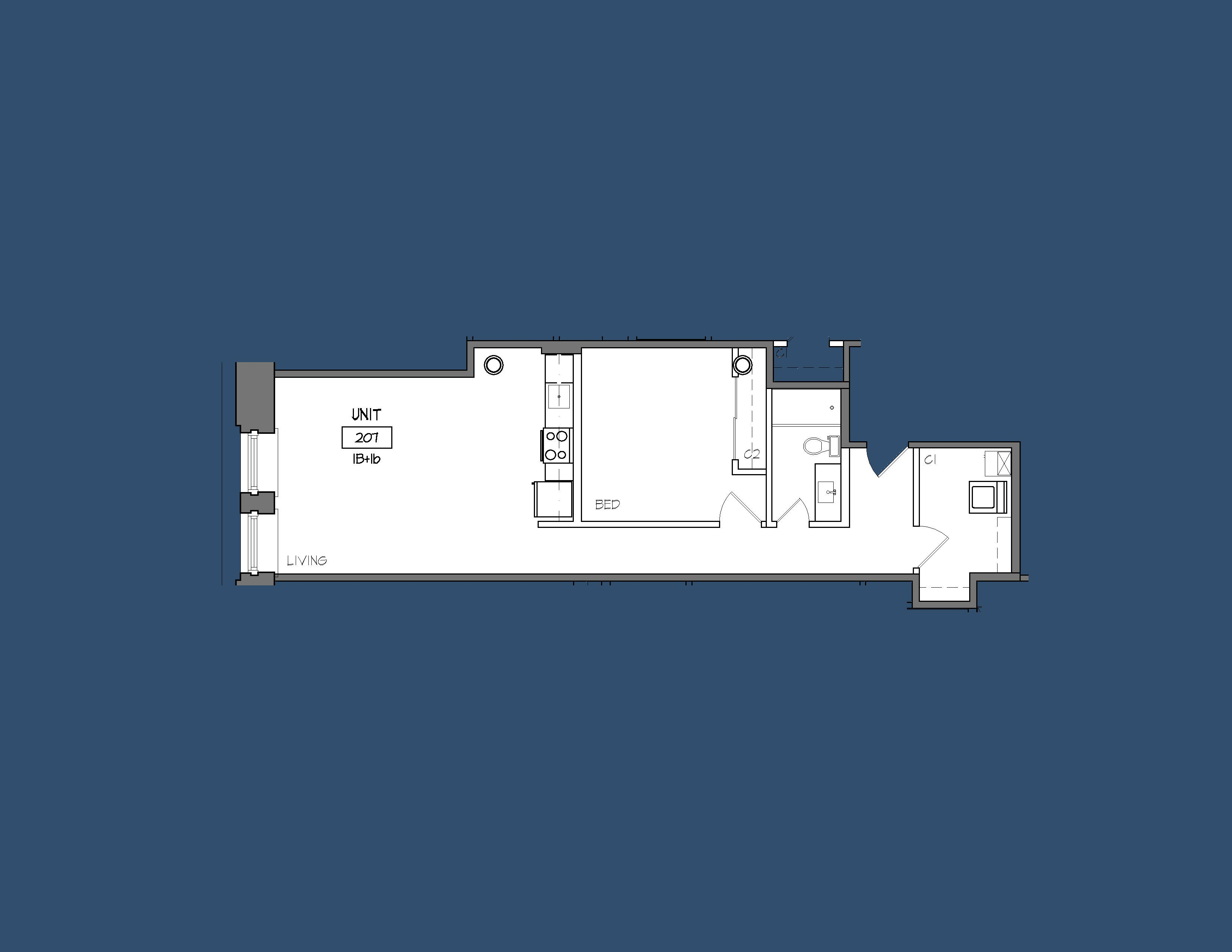 Unit 207 Floor Plan