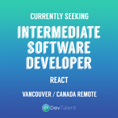 Intermediate software developer react va