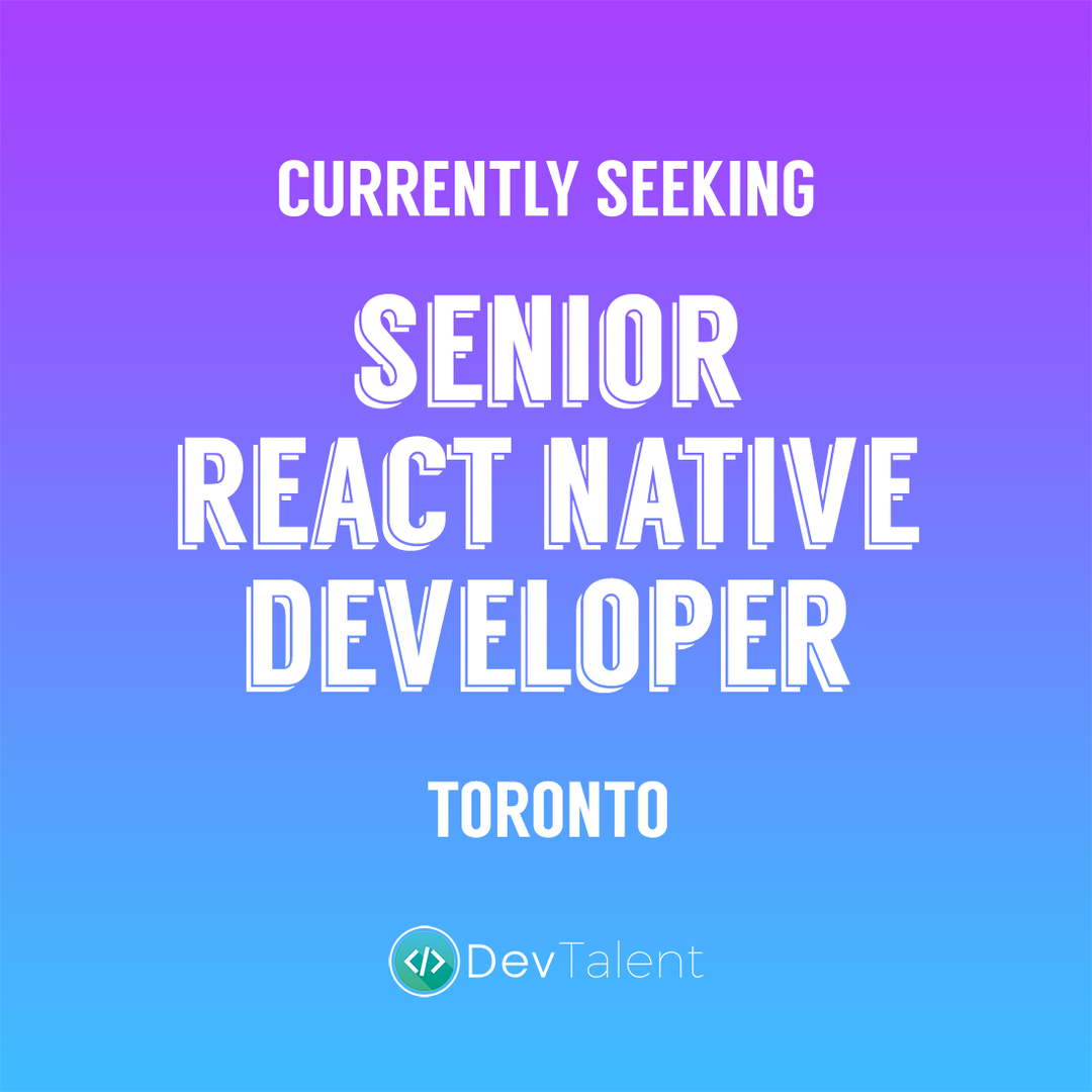 Senior React Native Developer - DevTalent