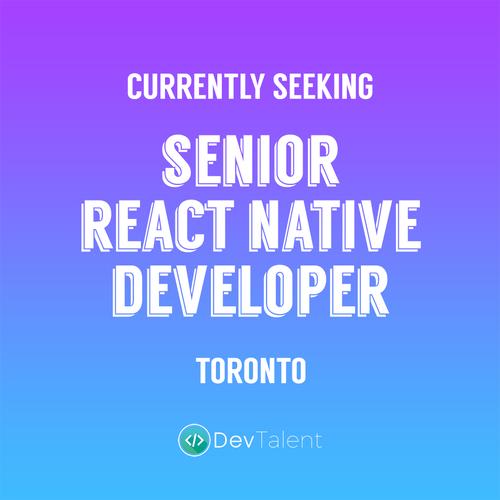 Senior React Native Developer - DevTalent