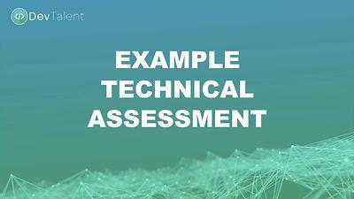 DevTalent - Example Technical Assessment