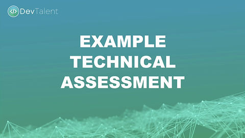 Example Technical Assessment