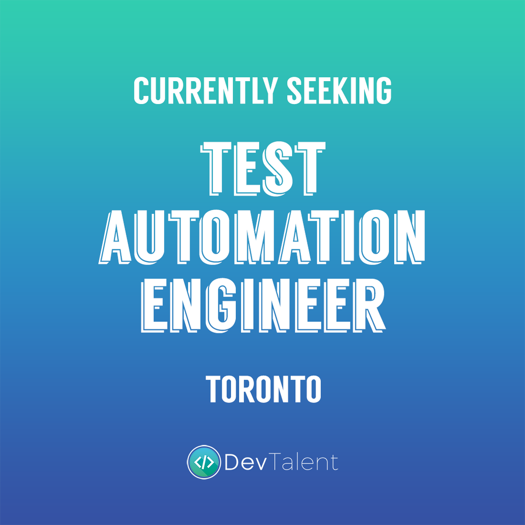Test Automation Engineer - DevTalent