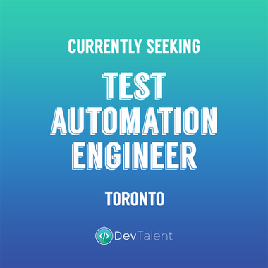Test Automation Engineer - DevTalent