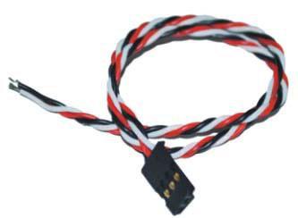 G-007 JR male servo lead twisted wire 22AWG L=15CM G-007 JR male servo lead twis